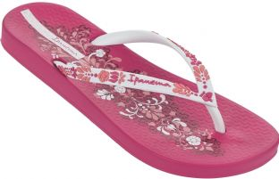 Ipanema Womens Anatomica Lovely IV Pink White Flip Flops